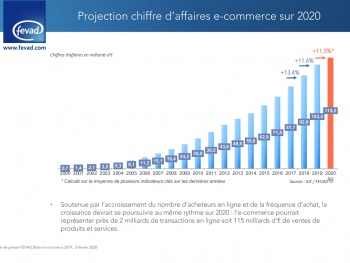 E-Commerce : Une projection de 115 milliards d'euros de ventes en ligne en 2020